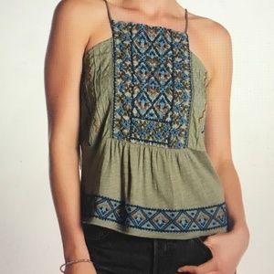 NWT Lucky Brand Embroidered Camisole Large